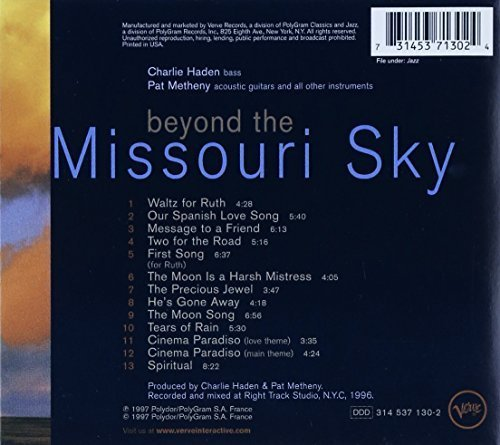 Bild 2: Charlie Haden, Beyond the Missouri sky (1997, & Pat Metheny)