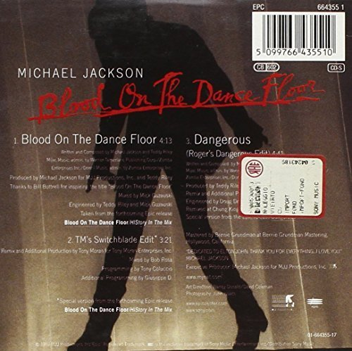 Фото 2: Michael Jackson, Blood on the dancefloor (1997; 3 tracks, cardsleeve)