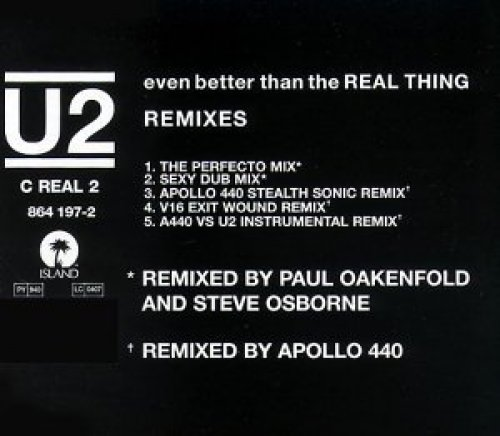 Bild 1: U2, Even better than the real thing (Remixes, 5 versions, 1992)