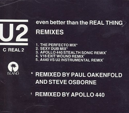 Bild 2: U2, Even better than the real thing (Remixes, 5 versions, 1992)
