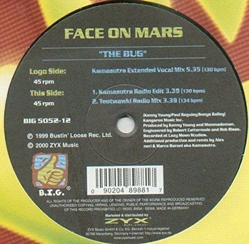 Bild 1: Face on Mars, Bug (3 versions, 1999/2000, incl. Kamasutra Ext. Vocal Mix, #zyx/big5052)