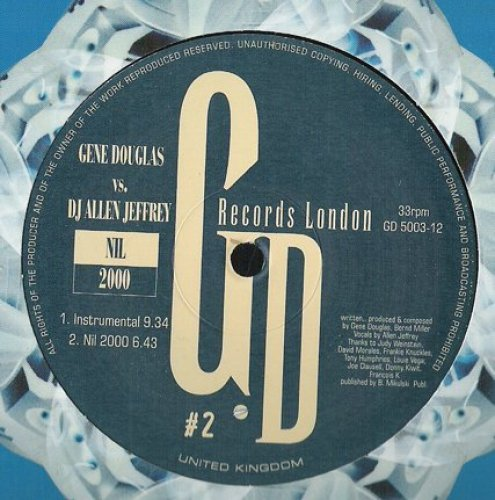 Bild 1: Gene Douglas, Nil 2000 (Vocal Mix, 8:55min., vs. DJ Allen Jeffrey)