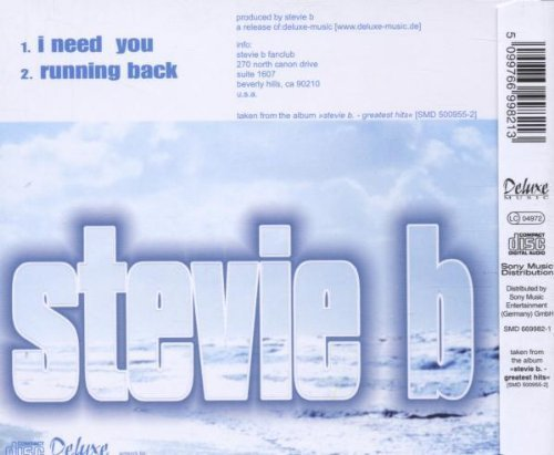 Bild 2: Stevie B., I need you/Running back