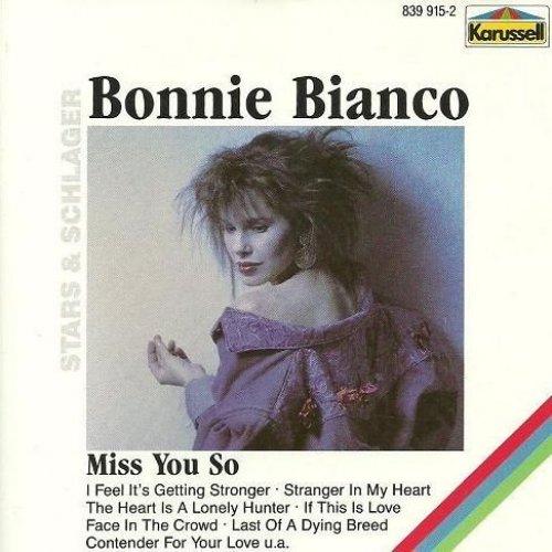Bild 1: Bonnie Bianco, Miss you so (10 tracks, 1987, Karussell)