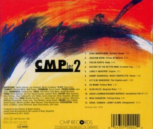Bild 2: CMP'ler 2 (1992), Chad Wackerman, Joachim Kühn, Lonely Universe, Glen Velez..