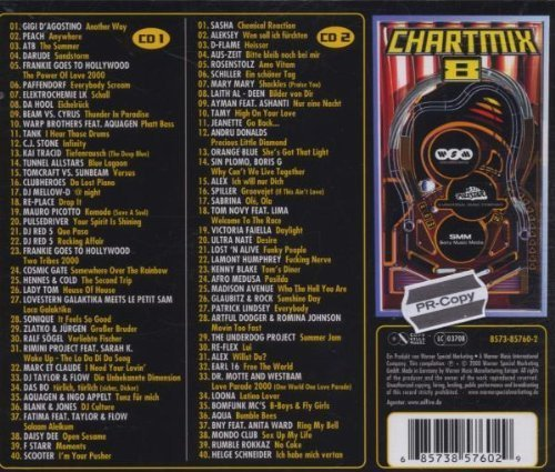 Bild 2: Chart Mix 8 (2000), Gigi d'Agostino, Peach, ATB, Darude, Paffendorf, Sasha, Schiller...