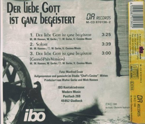 Bild 2: Ibo, Der liebe Gott ist ganz begeistert (Pre-Decision Eurovision 1996)