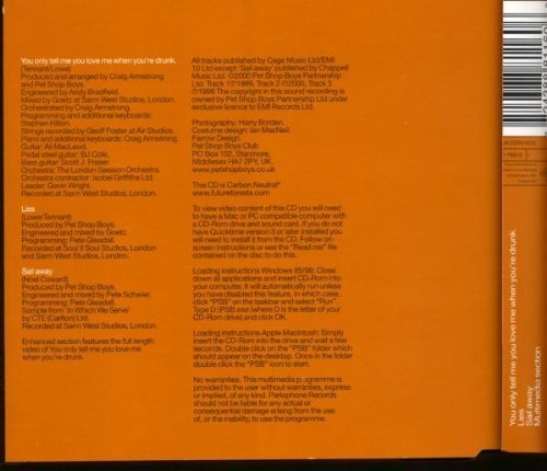 Bild 2: Pet Shop Boys, You only tell me you love me when you're drunk (2000, CD1)