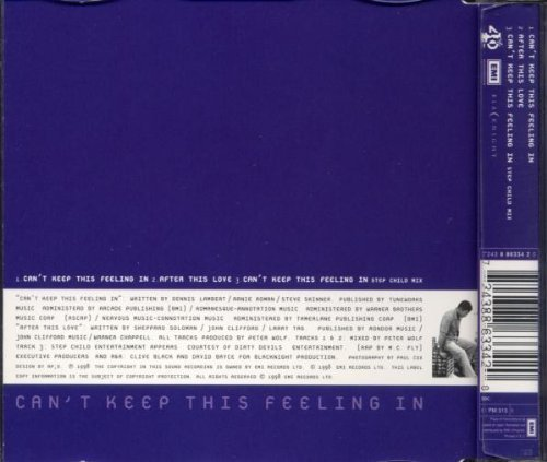 Bild 2: Cliff Richard, Can't keep this feeling in (1998, #8863342)