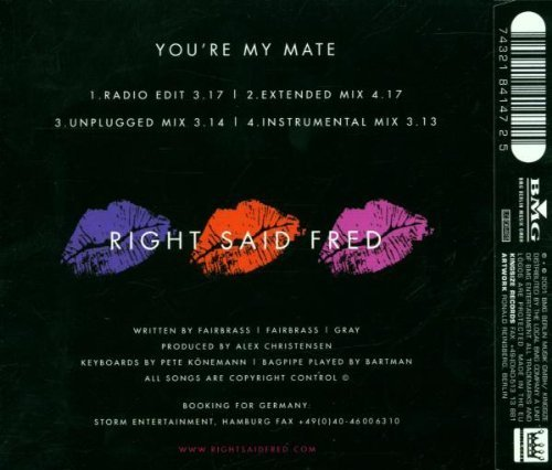 Bild 2: Right said Fred, You're my mate (2001)