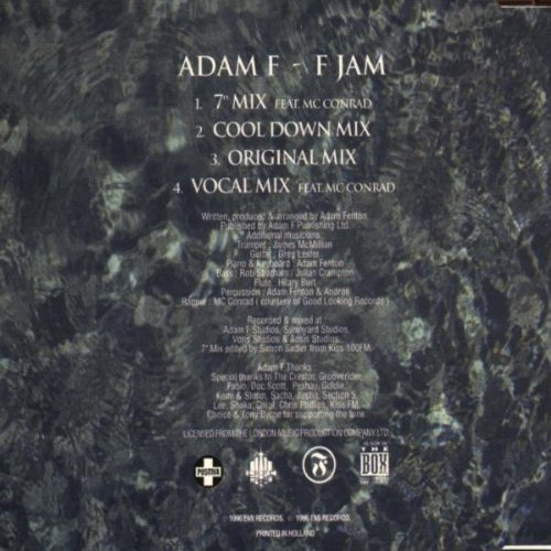 Bild 2: Adam F, F jam (feat. Mc Conrad Vocal Mix)