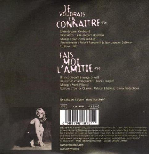 Bild 3: Patricia Kaas, Je voudrais la connaitre (1997; 2 tracks, cardsleeve)