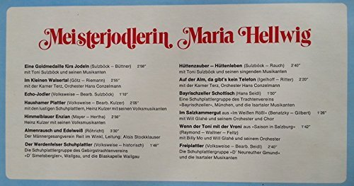 Bild 3: Maria Hellwig, Meisterjodlerin