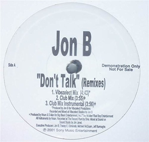 Bild 1: Jon B., Don't talk (4 versions, 2001)