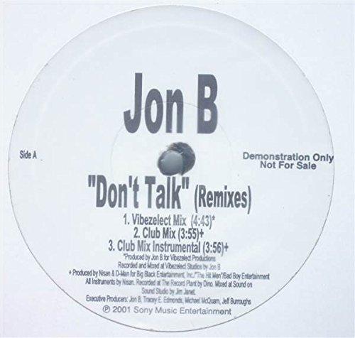 Bild 1: Jon B., Don't talk (4 versions, 2001)