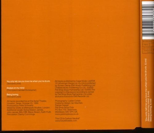 Bild 2: Pet Shop Boys, You only tell me you love me when you're drunk (2000, CD3)