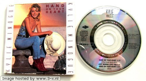 Bild 1: Kylie Minogue, Hand on your heart (1989; 3'')