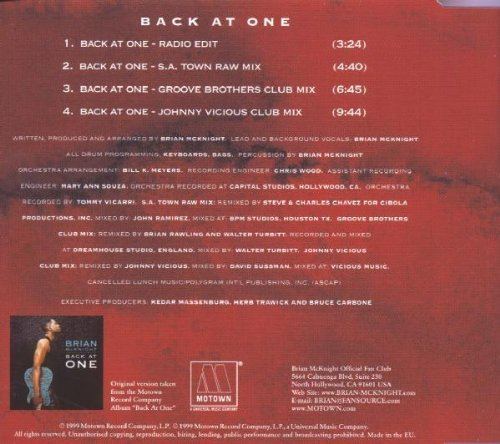 Bild 2: Brian McKnight, Back at one (1999)