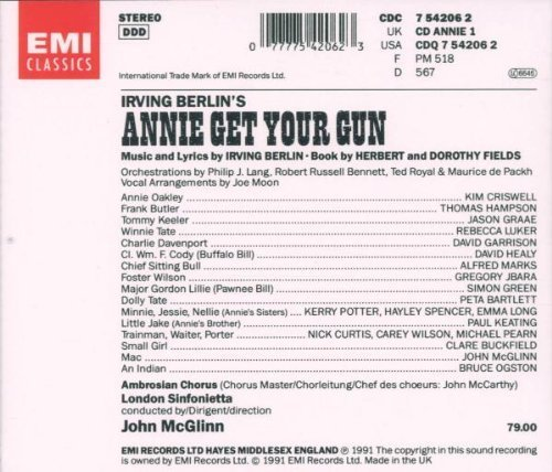 Bild 2: Annie get your Gun (Irving Berlin, 1991), Kim Criswell, Thomas Hampson..)