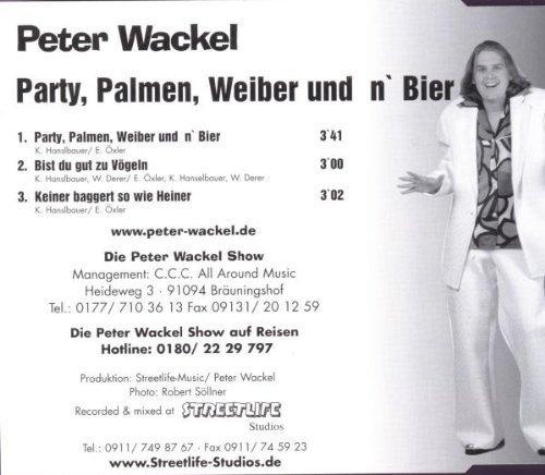 Bild 2: Peter Wackel, Party, Palmen, Weiber und n' Bier (2001)