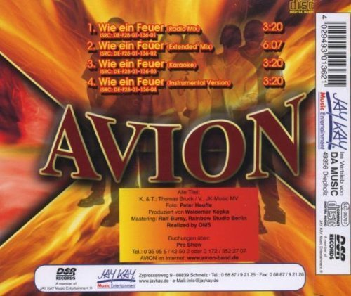 Фото 2: Avion, Wie ein Feuer (2001)