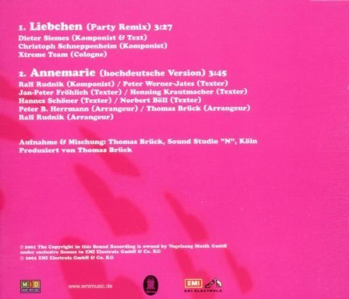 Bild 2: Höhner, Liebchen-Party Remix 2001 (2 tracks)