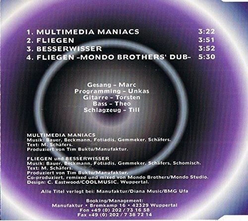 Bild 2: DNL, Multimedia maniacs (4 tracks, 1998)