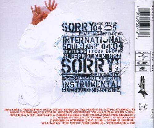 Bild 2: D-Flame, Sorry (2000)