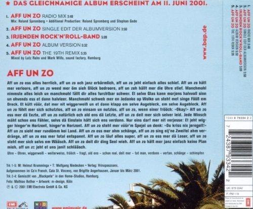 Bild 2: BAP, Aff un zo (2001)