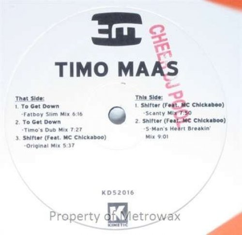 Bild 1: Timo Maas, To get down-The Remixes (Fatboy Slim/Rock Thing Timo's Dub Mixes)