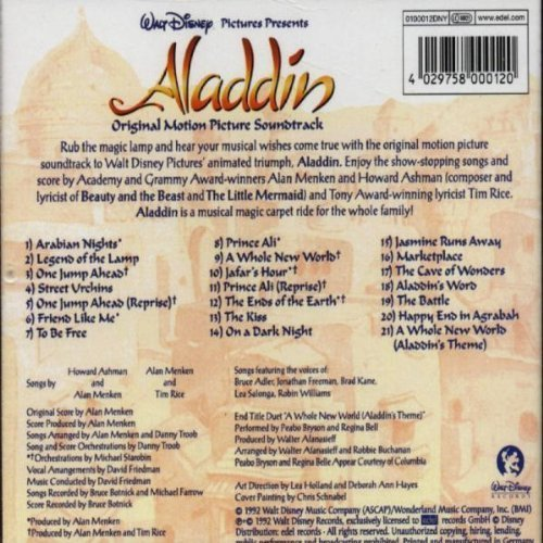 Bild 4: Aladdin (Walt Disney, 1992), Alan Menken, Howard Ashman, Tim Rice, Belle/Bryson