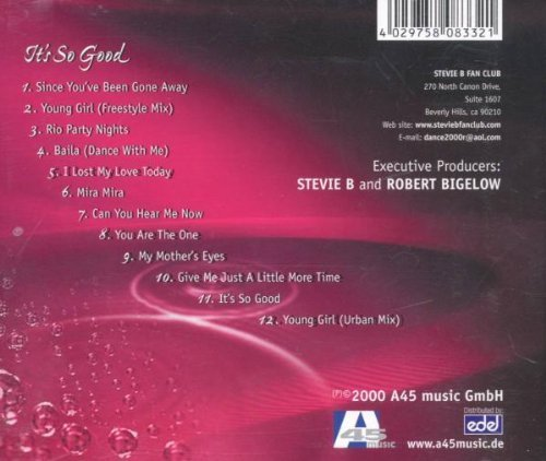Bild 2: Stevie B., It's so good (2000)