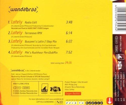 Bild 2: Wondabraa, Lately (2000, feat. Miriam Kassim)