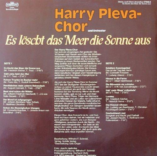 Image 2: Harry Pleva-Chor, Es löscht das Meer die Sonne aus (1978)