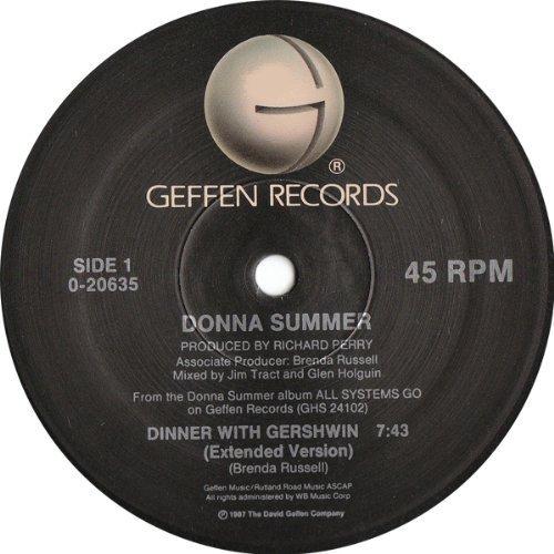 Bild 1: Donna Summer, Dinner with Gershwin (1987, US)