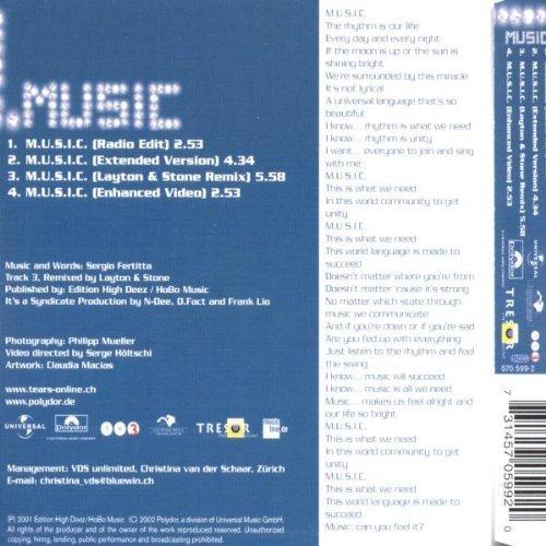 Bild 2: Tears, M.u.s.i.c. (2001)