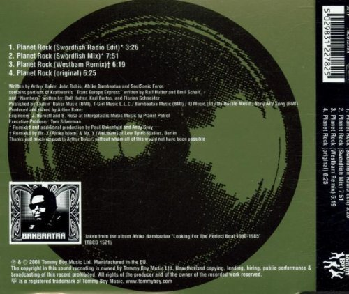 Bild 2: Paul Oakenfold pres. Africa Bambaataa & Soulsonic Force, Planet rock-Remixes (2001)
