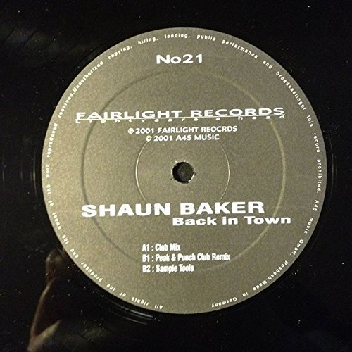 Фото 3: Shaun Baker, Back in town (Club Mix, 2001)