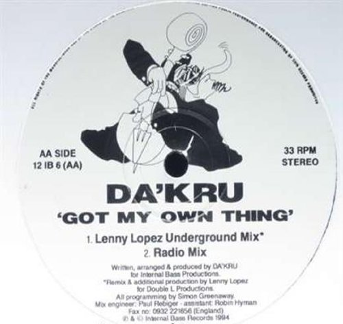 Фото 1: Da'Kru, Got my own thing (Orig. Club Mix, 1994)