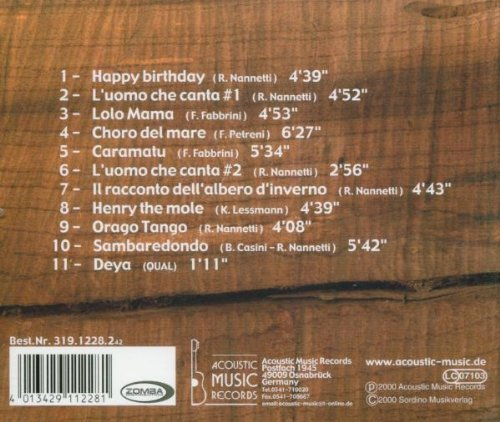 Bild 2: Quartetto Acustico Latino, L'uomo che canta (2000)