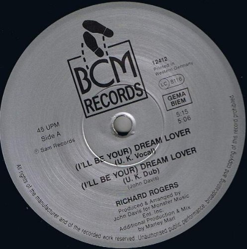Bild 1: Richard Rogers, (I'll be your) dream lover (U.K. Vocal, 5:15min.)