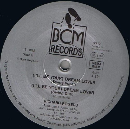 Bild 2: Richard Rogers, (I'll be your) dream lover (U.K. Vocal, 5:15min.)