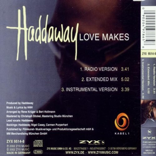 Bild 2: Haddaway, Love makes (2002, #zyx9514)