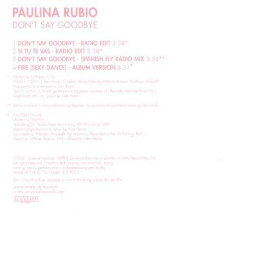 Bild 2: Paulina Rubio, Don't say goodbye (2002)