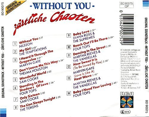 Bild 2: Zärtliche Chaoten-Without you (1987), Nilsson, Temptations, Marvin Gaye, Sam Cooke..