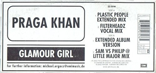Bild 1: Praga Khan, Glamour girl (Plastic People Ext. Mix, 2002)