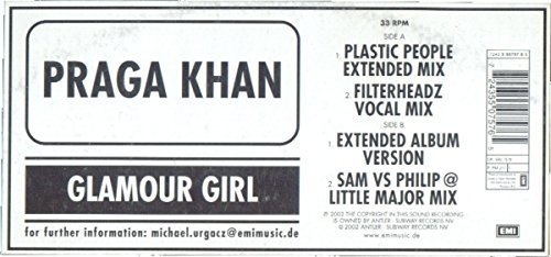 Bild 2: Praga Khan, Glamour girl (Plastic People Ext. Mix, 2002)