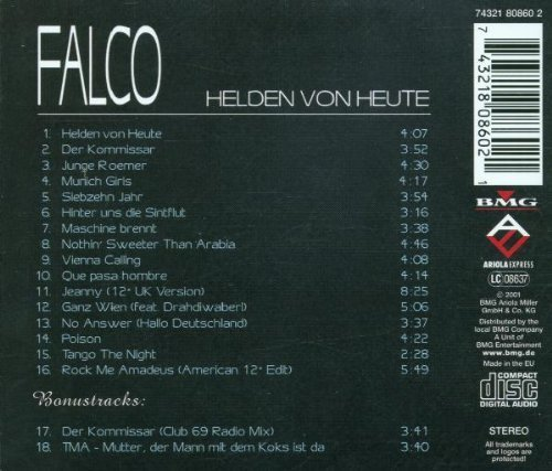 Bild 2: Falco, Helden von heute (compilation, 18 tracks, BMG/AE)
