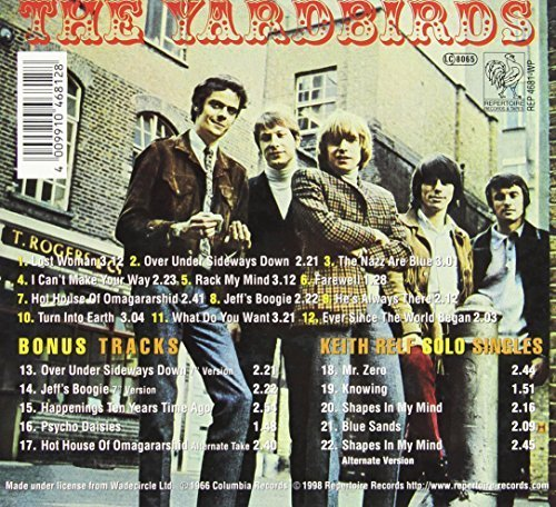 Bild 2: Yardbirds, Over under sideways down/Roger the engineer (1966/98; 22 tracks, Repertoire)