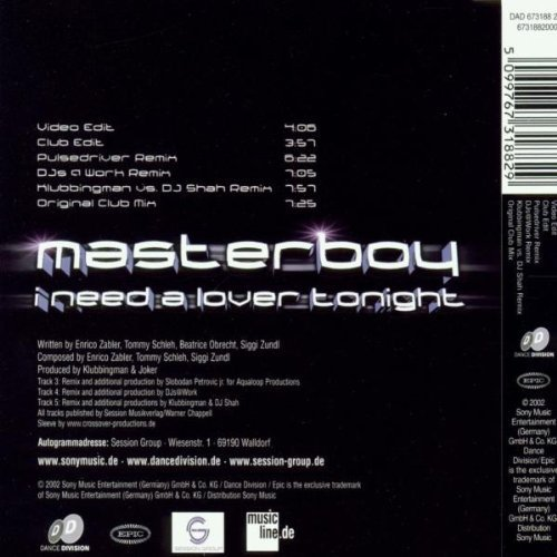 Bild 2: Masterboy, I need a lover tonight (2002)